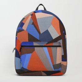 Orange & Blue Geoprint Backpack