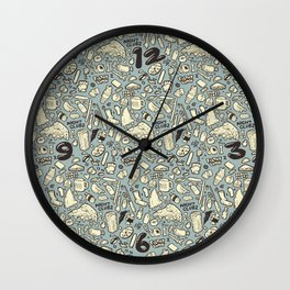 Filthy Lunch Dance Party Wall Clock