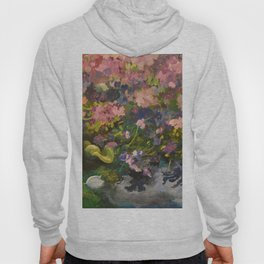 Pond with flowers Hoody