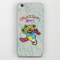 grateful dead iPhone & iPod Skins featuring Grateful Dead (Vector Art) by Troy Arthur Graphics