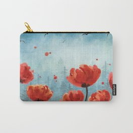 Poppy flowers - Misty Forest Carry-All Pouch