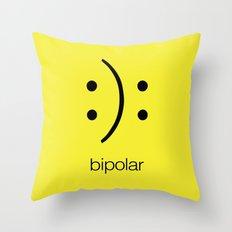 Bi polar Throw Pillow
