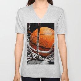 Basketball bounce version 1 Unisex V-Neck