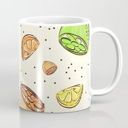 Colorful Lemons Pattern Coffee Mug