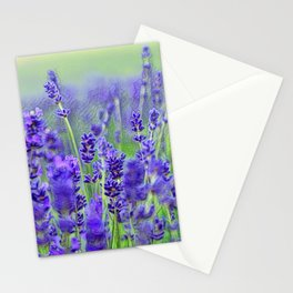 LAVENDER FIELD OF HAPPINESS Stationery Cards