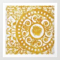 damask Art Prints featuring Damask by studioDarcy