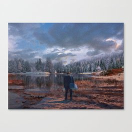 The coming of the dawn Canvas Print