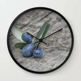 Olive Still Life Wall Clock