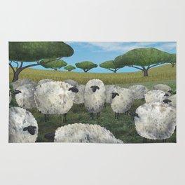 greener pasture Rug