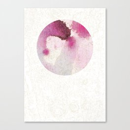 FULL MOON ROSE PINK Canvas Print