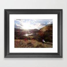 Rustler's Sunset Framed Art Print