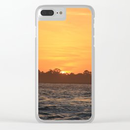 Tybee Island Sunset Clear iPhone Case