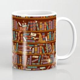 Bookshelf Coffee Mug