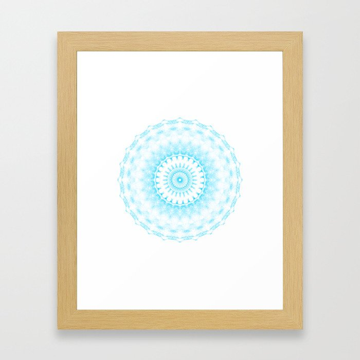 Snowflake #005 transparent Framed Art Print