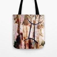gemini Tote Bags featuring Gemini  by ART de Luna