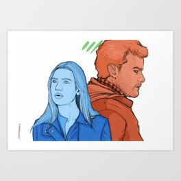 FRINGE: The Blue and The Red Art Print