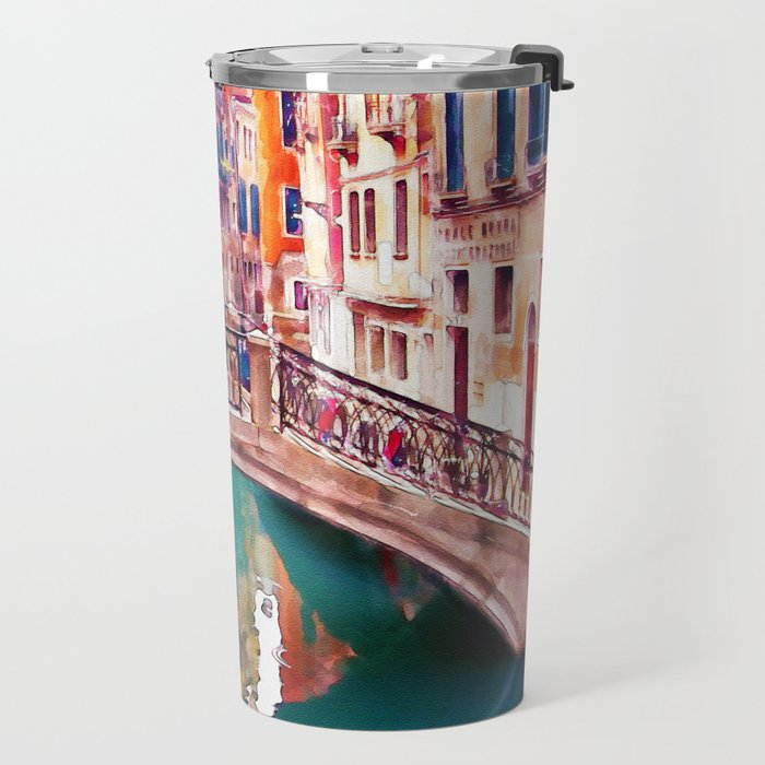 Small Bridge in Venice Travel Mug
