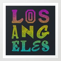 los angeles Art Prints featuring Los Angeles by Fimbis