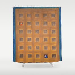 mostro 3 Shower Curtain