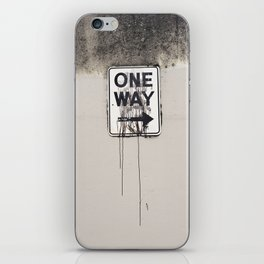 One Way iPhone Skin