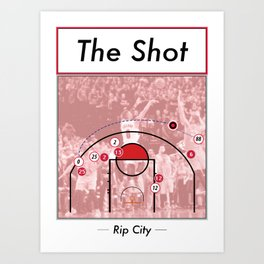 The Shot Series - Damian Lillard Art Print