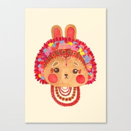The Flower Crown Bunny Canvas Print