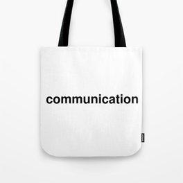 communication Tote Bag
