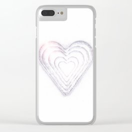 White Snow Heart On A White Background #decor #society6 #buyart Clear iPhone Case