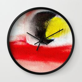 Abstract art. A painting for Tomie Ohtake Wall Clock