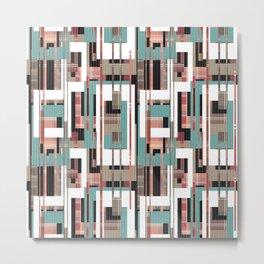 An abstract geometric pattern . 1 Line. Metal Print