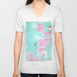 pinktürkis Unisex V-Neck