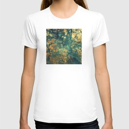 Exquisite Aqua-Green Marble With Gold-Copper Veins T-shirt