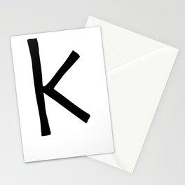 K Monogram (Hand 2) Stationery Cards