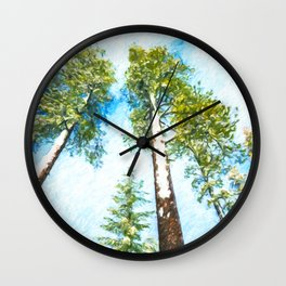Snow in Sequoia National Park Wall Clock