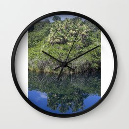 Relaxing Lagoon Wall Clock
