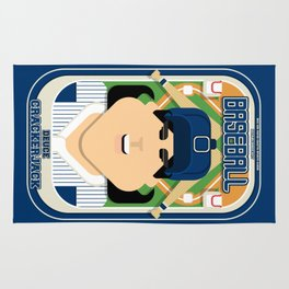 Baseball Blue Pinstripes - Deuce Crackerjack - Amy version Rug