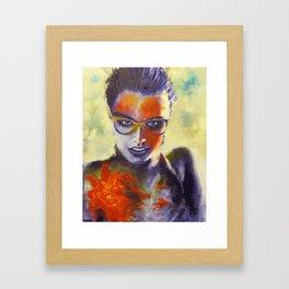 woman in water Framed Art Print