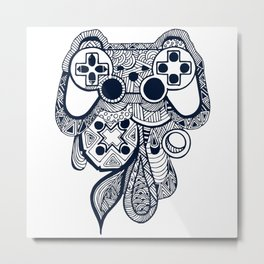Games Console Metal Print
