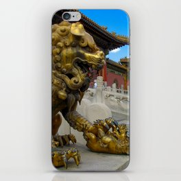 Mother Lion. Beijing Forbidden Palace. iPhone Skin
