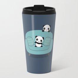 Kawaii Cute Pandas Travel Mug