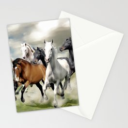 8 Horses Running Stationery Cards
