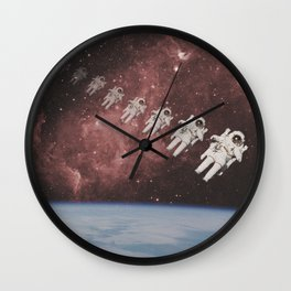 ASTRONAUT TRAVELING THROUGH TIME AND SPACE Wall Clock
