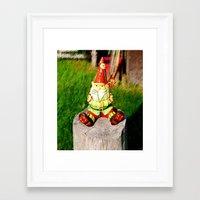 gnome Framed Art Prints featuring Gnome by Raffaella315