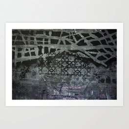 Patterned with Black Art Print