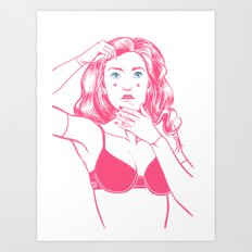Put Your Face On Art Print