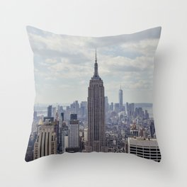 New York State of Mind view, Empire State building | The beautiful NYC from above on top of the Rock Throw Pillow