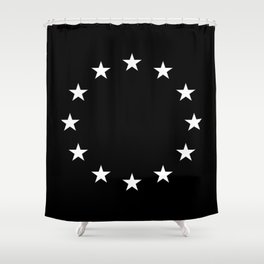 Flag of Europe 3 – tragical variation Shower Curtain