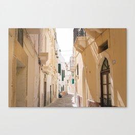 Puglia in yellow Canvas Print