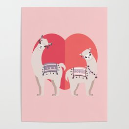 Llama and Alpaca with love Poster