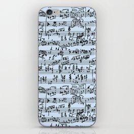 Hand Written Sheet Music // Light Blue iPhone Skin